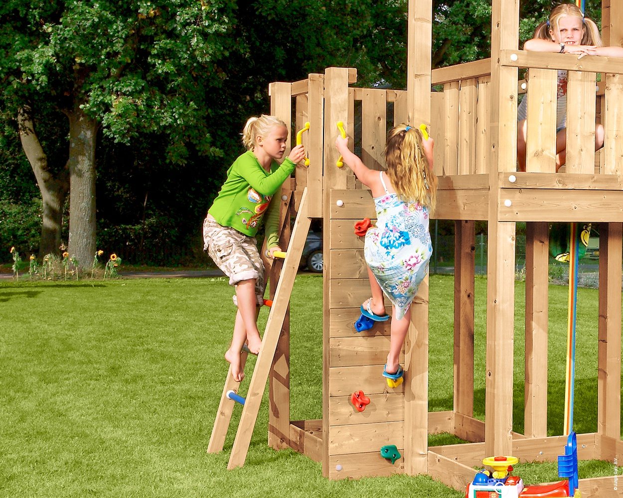 Sprossenleiter Holz Spielturm Mansion Mit Pic Nic Modul Jungle Gym Bowi Ch