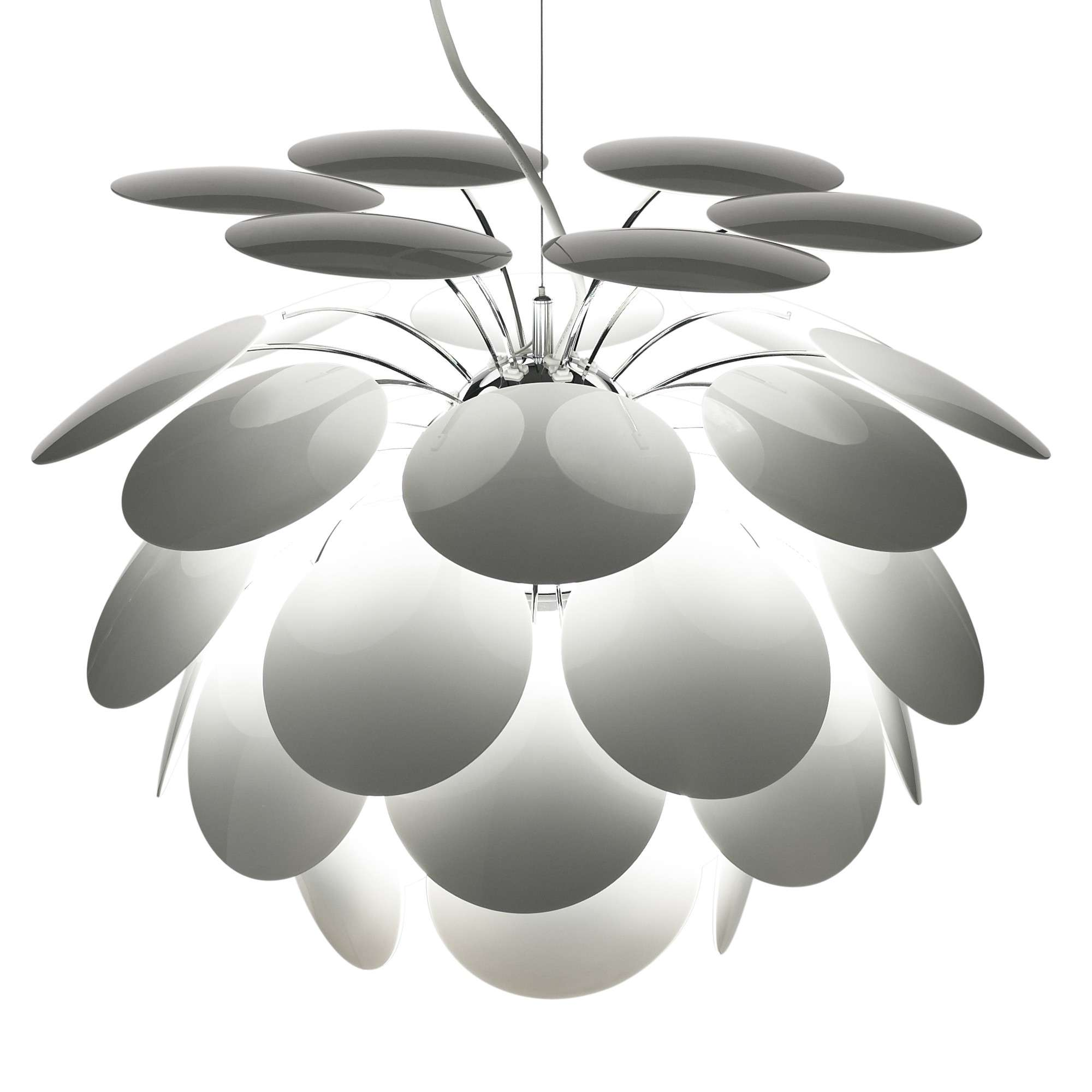 Luminaire Blanc Suspension Discoco Blanc