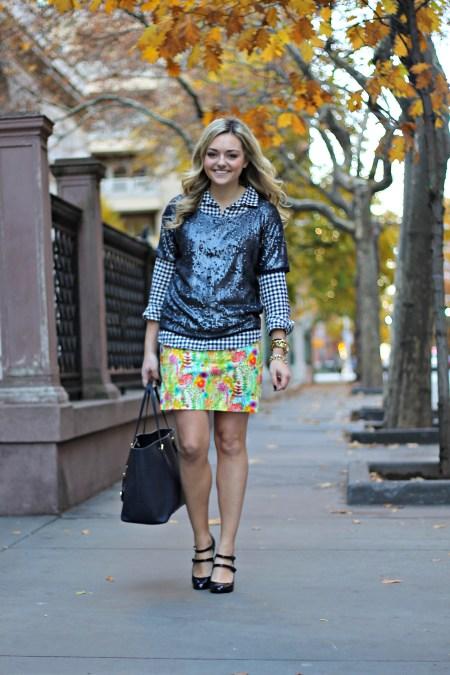 J Crew Glitter Skirt