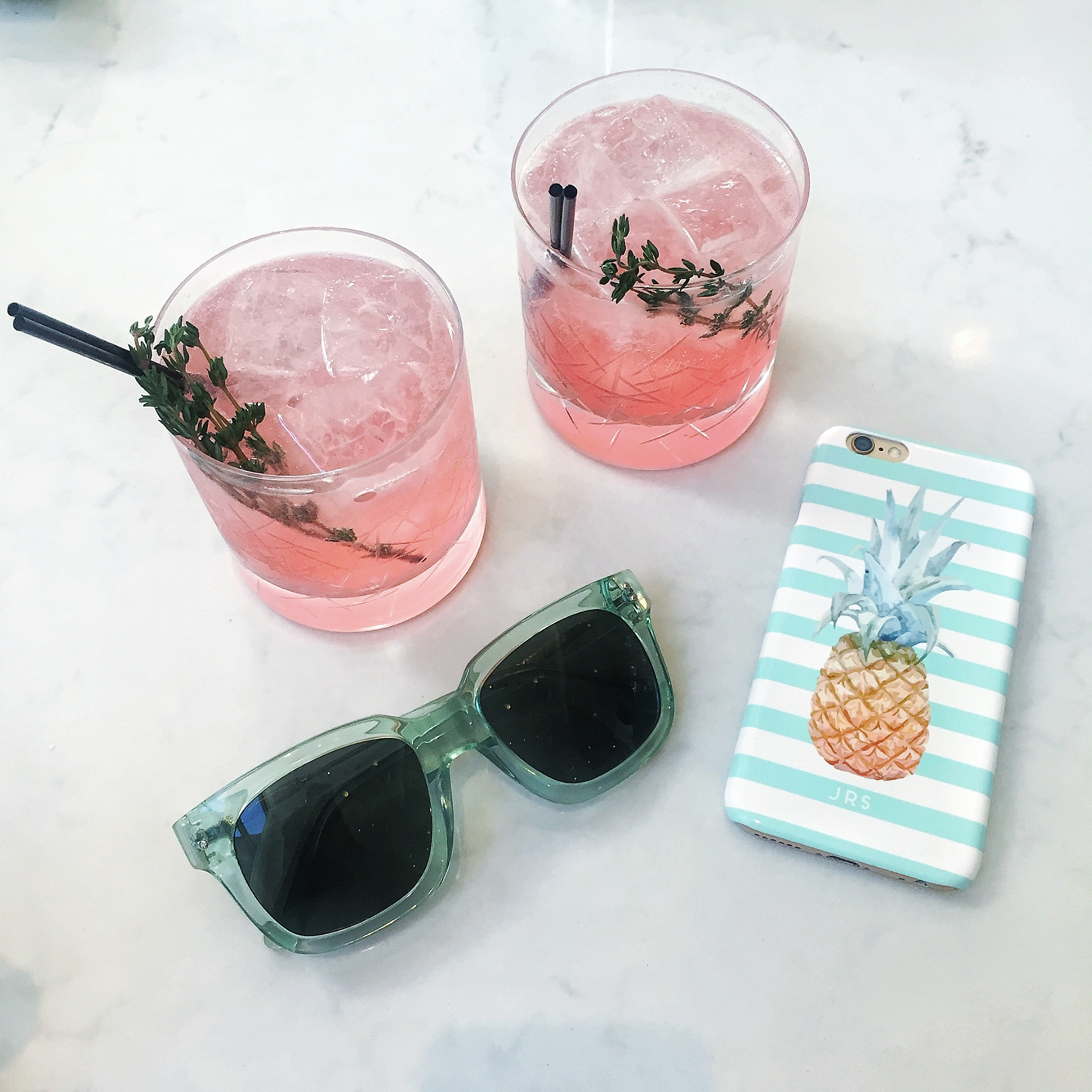 Pineapple With Sunglasses Tumblr Pink Cocktails Green Sunglasses Pineapple Stripe Phone