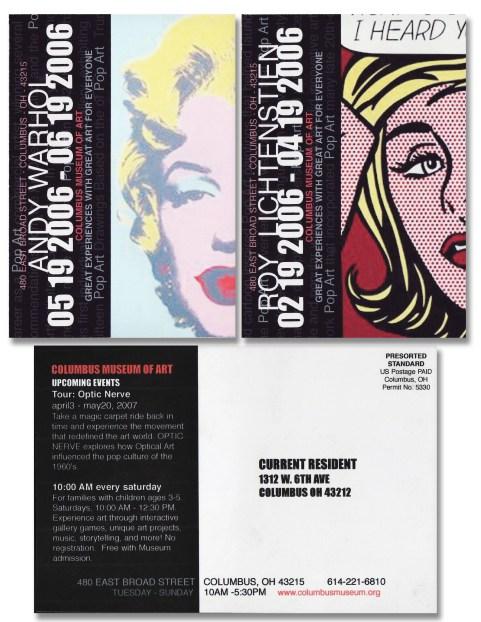 MUSEUM-Promo postcards