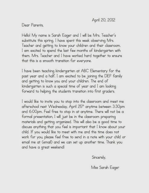 Welcome Letters for Parents