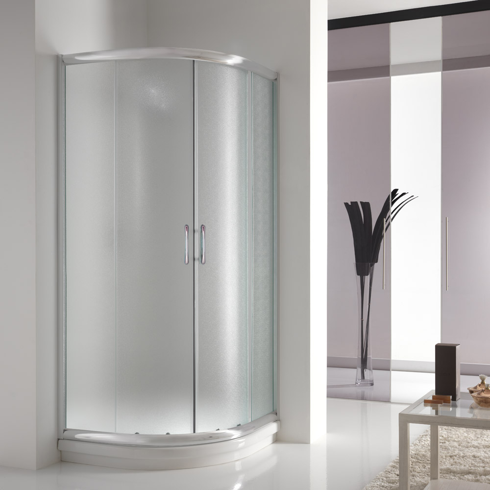 Adesivi Per Doccia Shower Enclosure Corner Chrome Entry Glass Sliding Screen