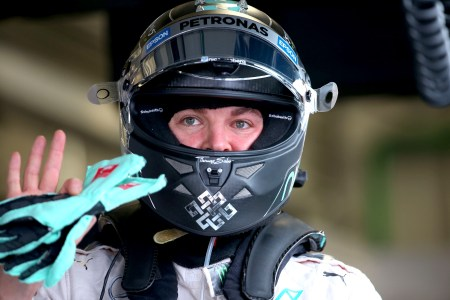 Mercedes poised for title after Rosberg pole