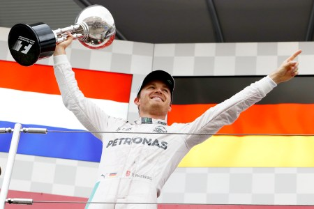 Nico Rosberg is within touching distance of his maiden championship after easing himself to victory in Japan.
