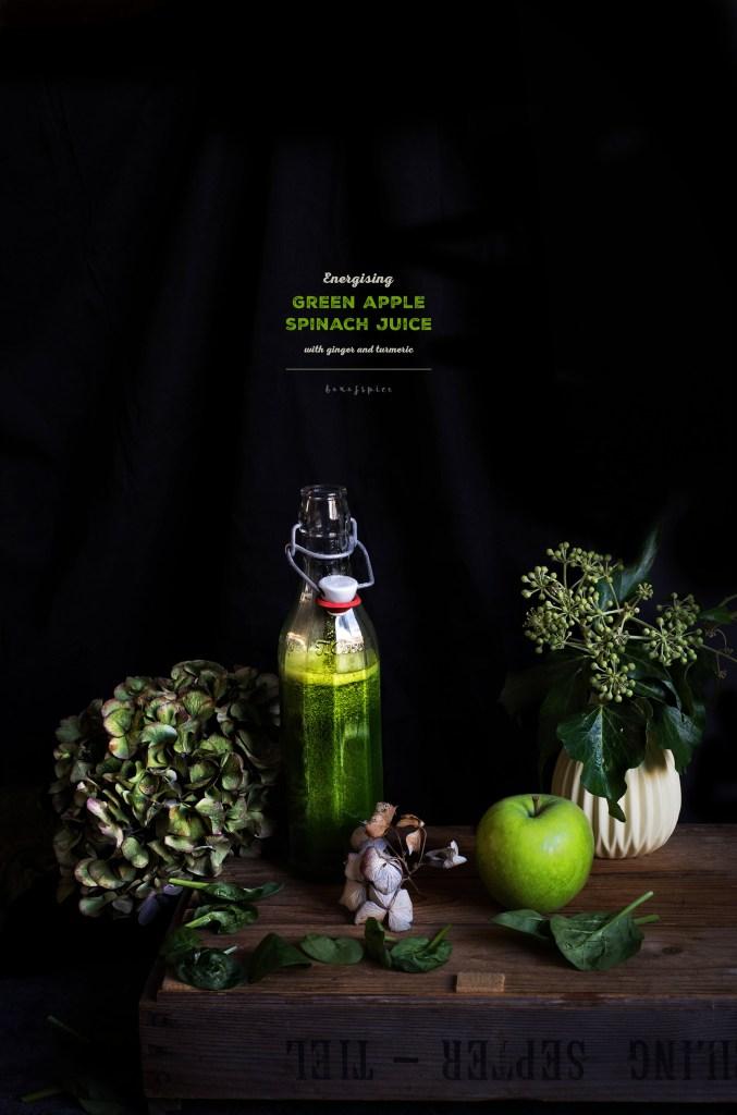 Energising Green Apple Spinach Juice