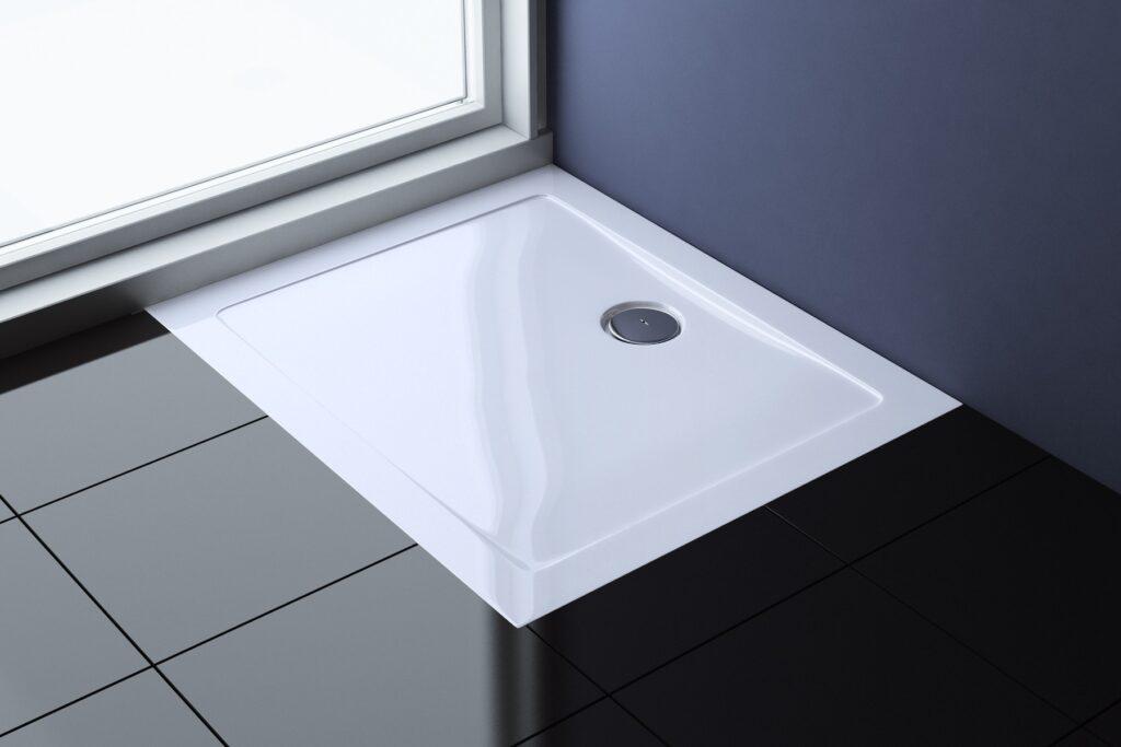 Montaggio piatto doccia acrilico piatto doccia angolare ultraslim