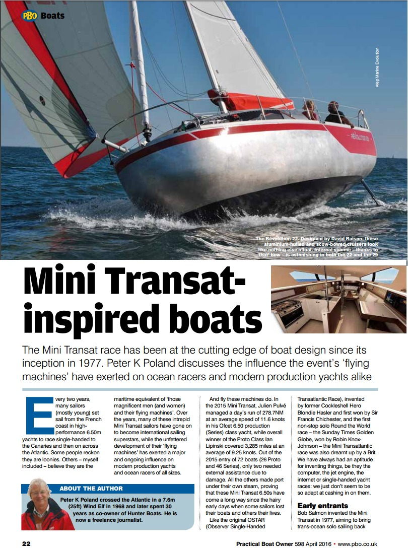 Transat Design Practical Boat Owner Mini Transat Inspired Boats Press