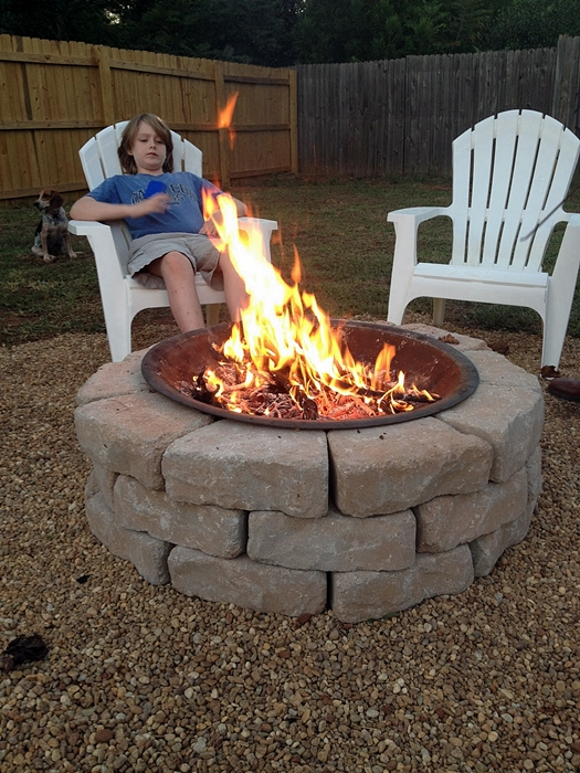 Ikea Ribba Ledge Make Your Own Diy Backyard Fire Pit: Cheap Weekend Project