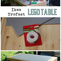 DIY Ikea Lego Table: aka The Super Secret Project: The Day the Glue Gun Let Me Down