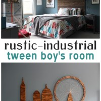 Ari's Room: All Finished! Rustic-Industrial Tween Room
