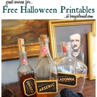 """The Raven"" Halloween Vignette + Fun with Printables"