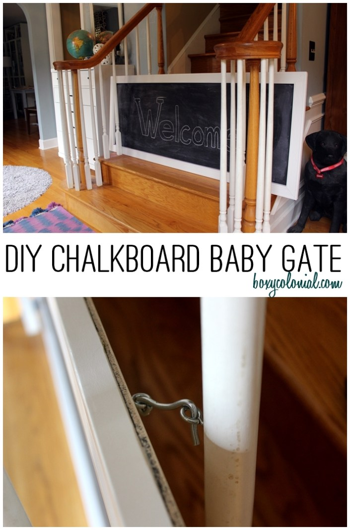 DIY Chalkboard Baby Gate for Open Stairways