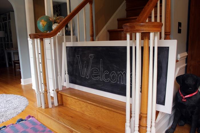 chalkboard baby gate3