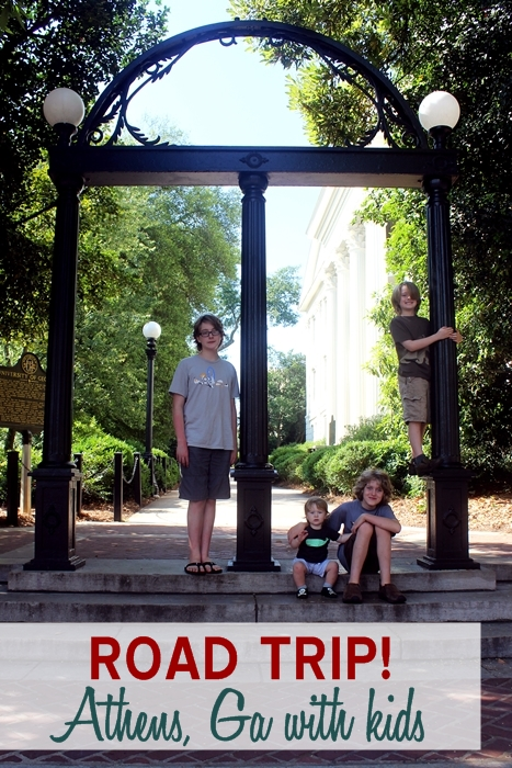 Road Trip to Athens, GA with kids