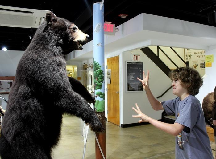 Milo and a bear