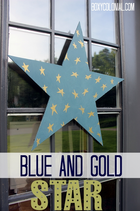 blue and gold star for the front door