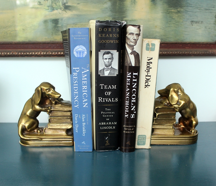 brass dachshund bookends