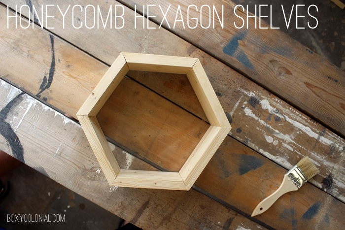 DIY Honeycomb Hexagon Shelves