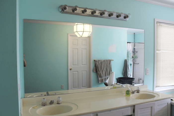 Updating Bathroom Vanity Lights quick and easy vanity light update (plus black paint reveal) -