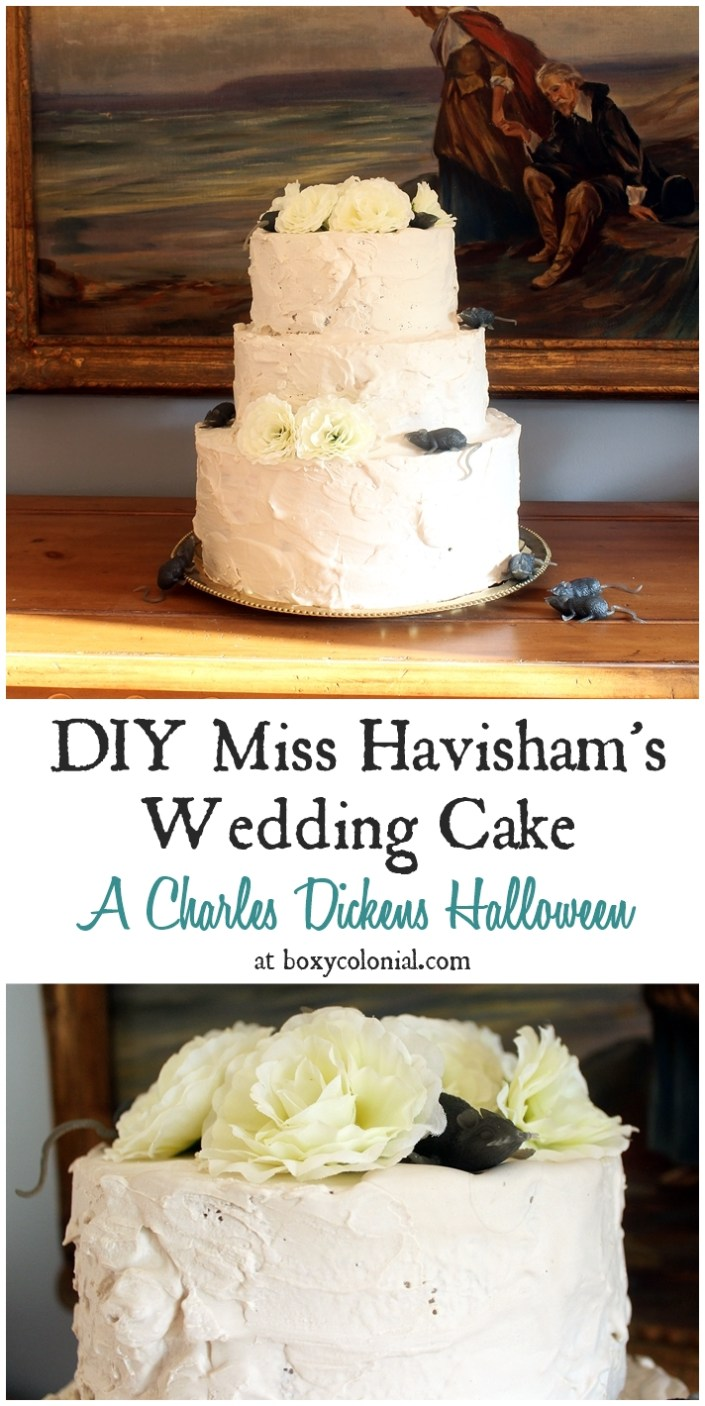 Make Miss Havisham's bride cake from Great Expectations: Creepy Wedding Halloween decorations
