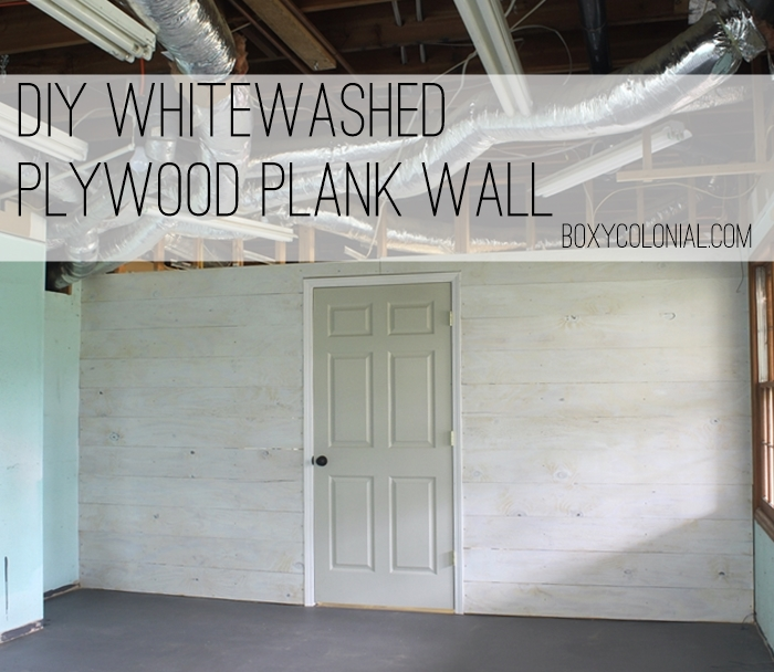 Whitewashed Plywood Plank Wall Finally Starting The Fun