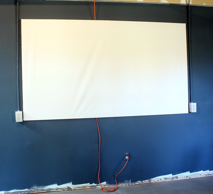 Diy home projection screen