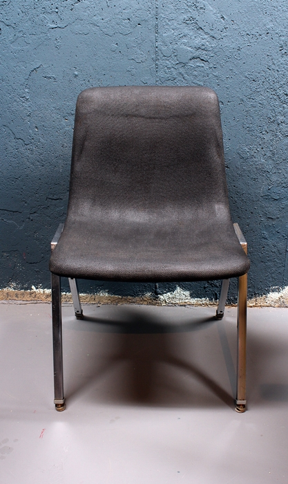 heywood wakefield chair with painted fabric