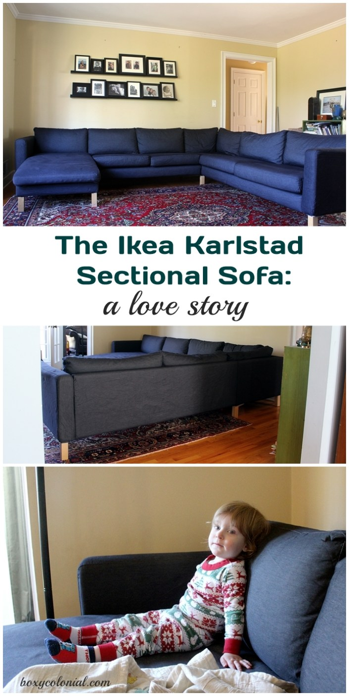 A review of Ikea's Karlstad sectional in sivik gray
