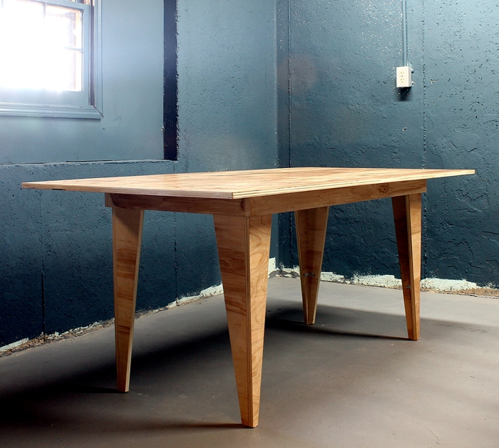 diy birch plywood table