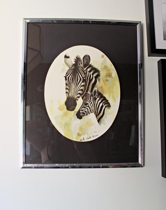 doris scott nelson zebra print
