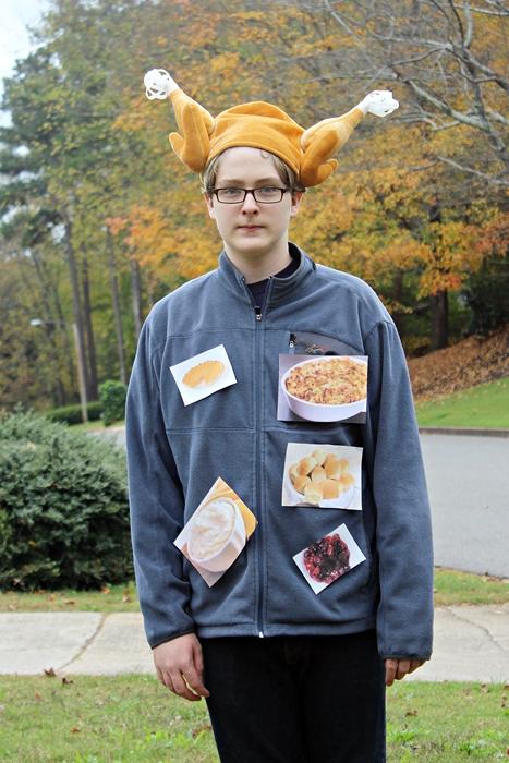Easy last minute Halloween costume: Thanksgiving Dinner!