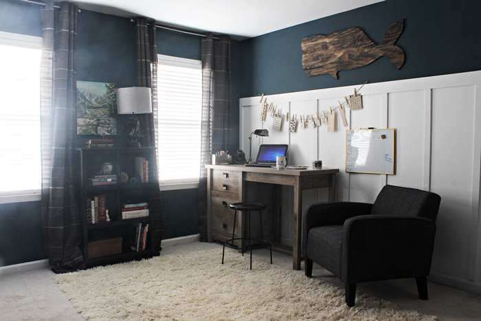 neutral office space makeover