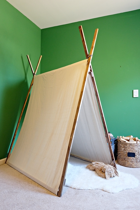 diy canvas play tent tutorial