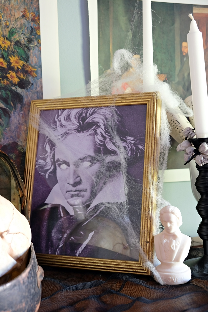 Spooky Beethoven print for Halloween