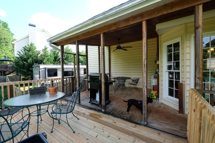 diy deck repair with covered porch