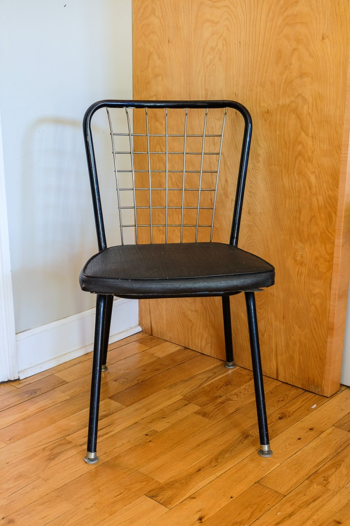 black and gold vintage chair