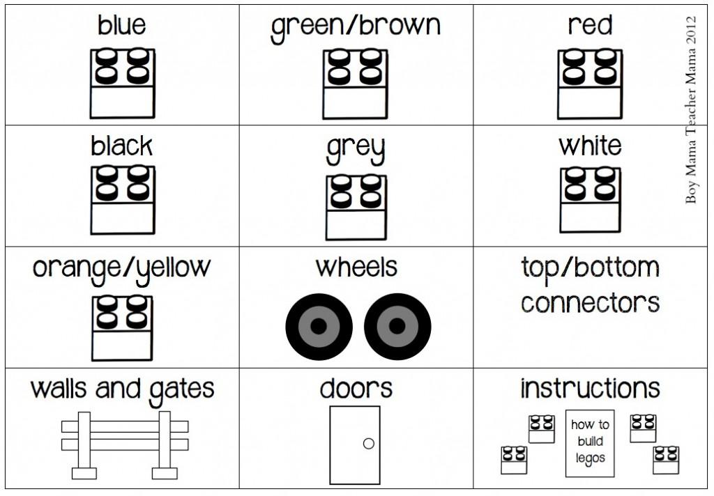 Boy Mama Lego Organization System Stickers (Updated) -