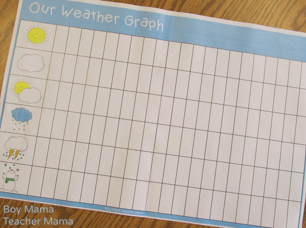 Teacher Mama FREE Printable Daily Weather Graph - Boy Mama Teacher Mama - free printable graph