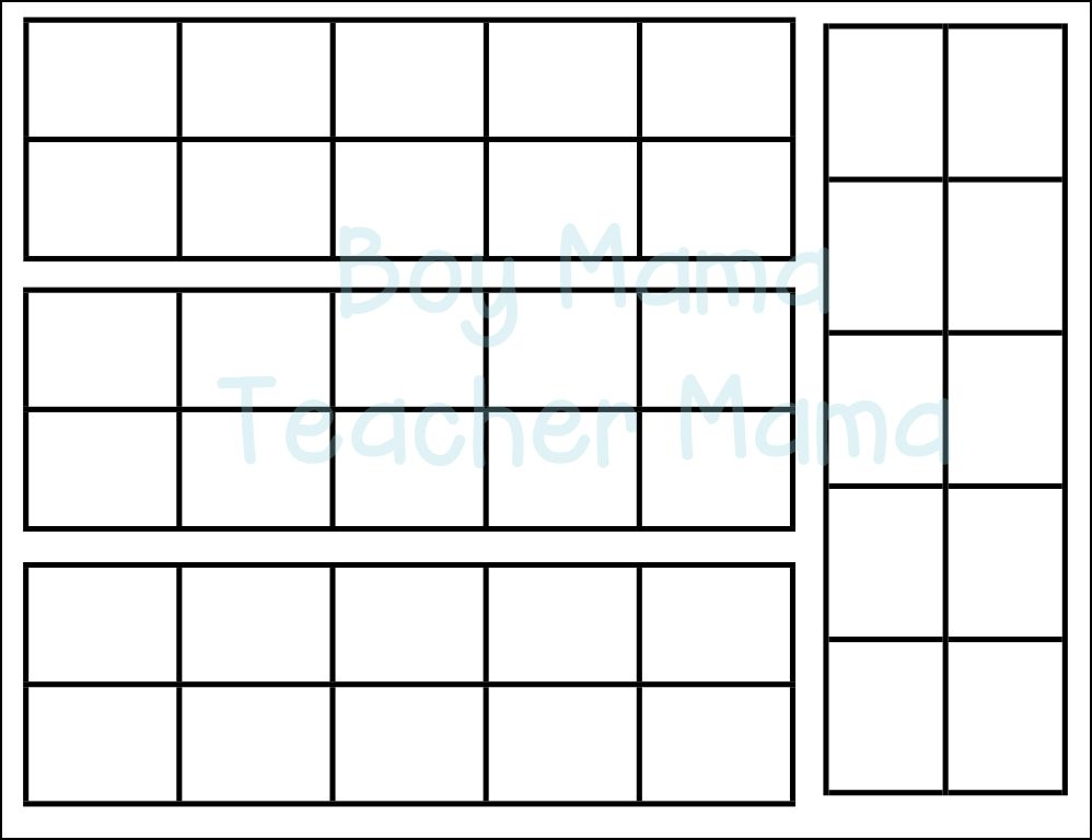 Teacher Mama How to Make a Magnetic Ten Frame Paddle - Boy Mama - ten frame template