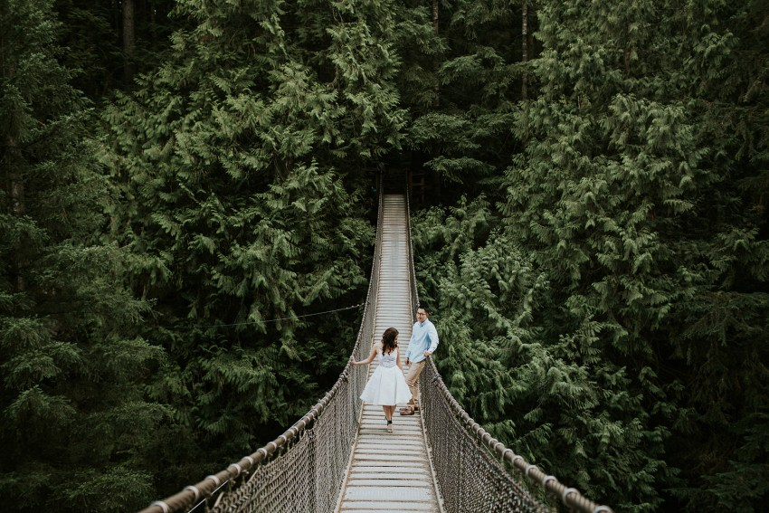lynn canyon engagement session