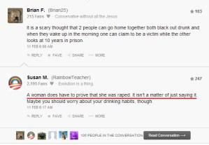 Huffington Post commenters regarding James Taranto 1