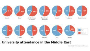 Graphs - Women and Men in Middle Eastern Universities