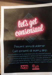 Flyer - Let's get consensual - University of Victoria Students' Society and The Anti Violence Project