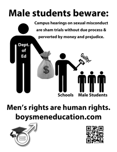 Flyer - due process - men's rights are human rights