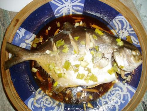 steamed pampano fish recipe