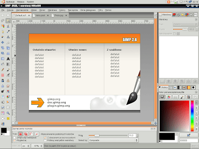 Old Macromedia design GIMP