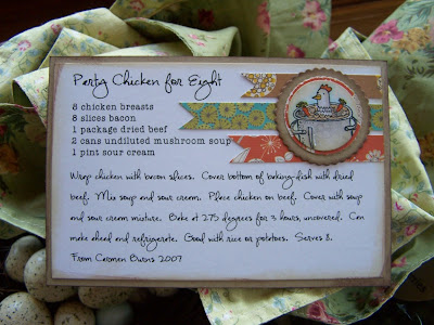 I would love to convert all my recipes to cards like this Paper - recipe card