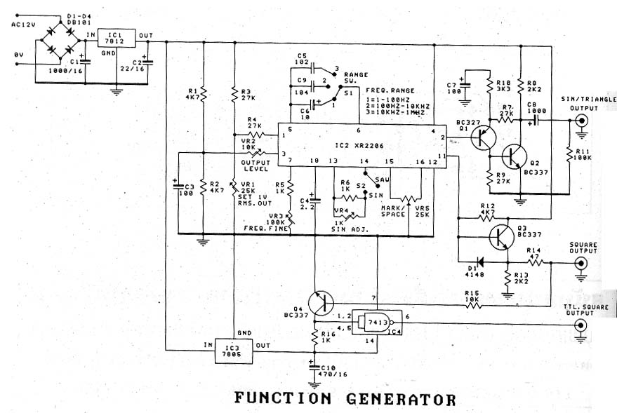 elecfree com circuit osci ion generator simple function generator by