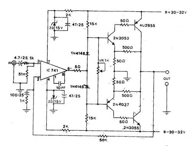 2n3055 50w audio amplifier